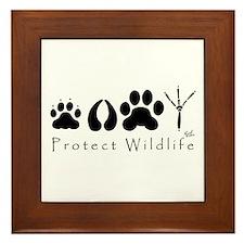 Protect Wildlife Framed Tile