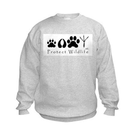 Protect Wildlife Kids Sweatshirt