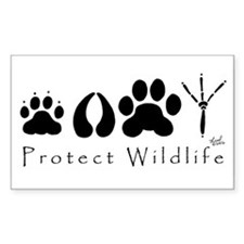 Protect Wildlife Rectangle Decal
