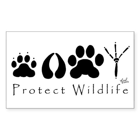 Protect Wildlife Rectangle Sticker