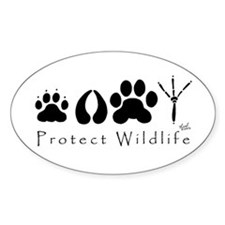 Protect Wildlife Oval Stickers
