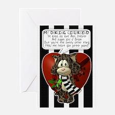 Geordie Gilfriend Valentine's Day Greeting Card
