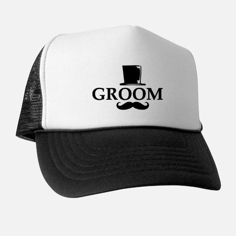Mustache Groom Hat