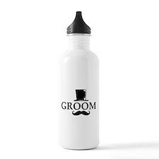 Mustache Groom Sports Water Bottle
