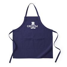 Mustache Groom Apron (dark)