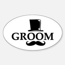 Mustache Groom Decal
