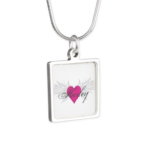 My Sweet Angel Harley Silver Square Necklace