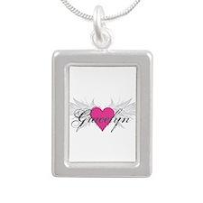 My Sweet Angel Gracelyn Silver Portrait Necklace