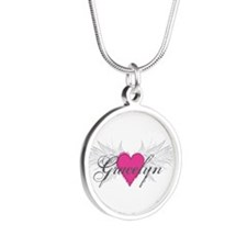 My Sweet Angel Gracelyn Silver Round Necklace