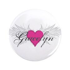 """My Sweet Angel Gracelyn 3.5"""" Button"""