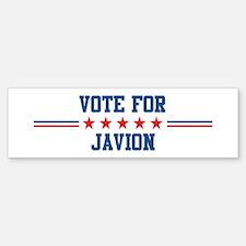 Vote for JAVION Bumper Bumper Bumper Sticker