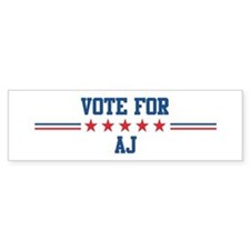 Vote for AJ Bumper Bumper Sticker