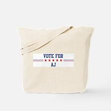 Vote for AJ Tote Bag