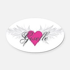 My Sweet Angel Giselle Oval Car Magnet