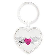 My Sweet Angel Giovanna Heart Keychain