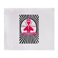 Defeat Cancer Throw Blanket