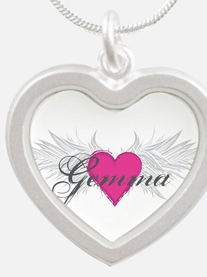 My Sweet Angel Gemma Silver Heart Necklace
