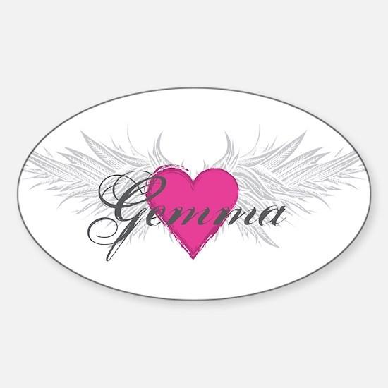 My Sweet Angel Gemma Sticker (Oval)