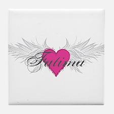 My Sweet Angel Fatima Tile Coaster