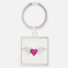 My Sweet Angel Eva Square Keychain