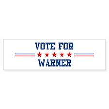 Vote for WARNER Bumper Bumper Sticker