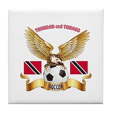 Trinidad and Tobago Football Design Tile Coaster