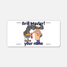 Personalized Grill Master Aluminum License Plate