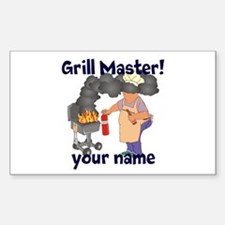 Personalized Grill Master Decal
