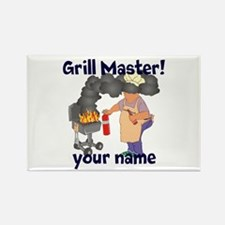 Personalized Grill Master Rectangle Magnet (10 pac
