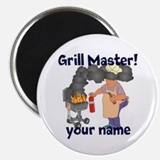 """Personalized Grill Master 2.25"""" Magnet (10 pack)"""