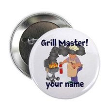"""Personalized Grill Master 2.25"""" Button (10 pack)"""
