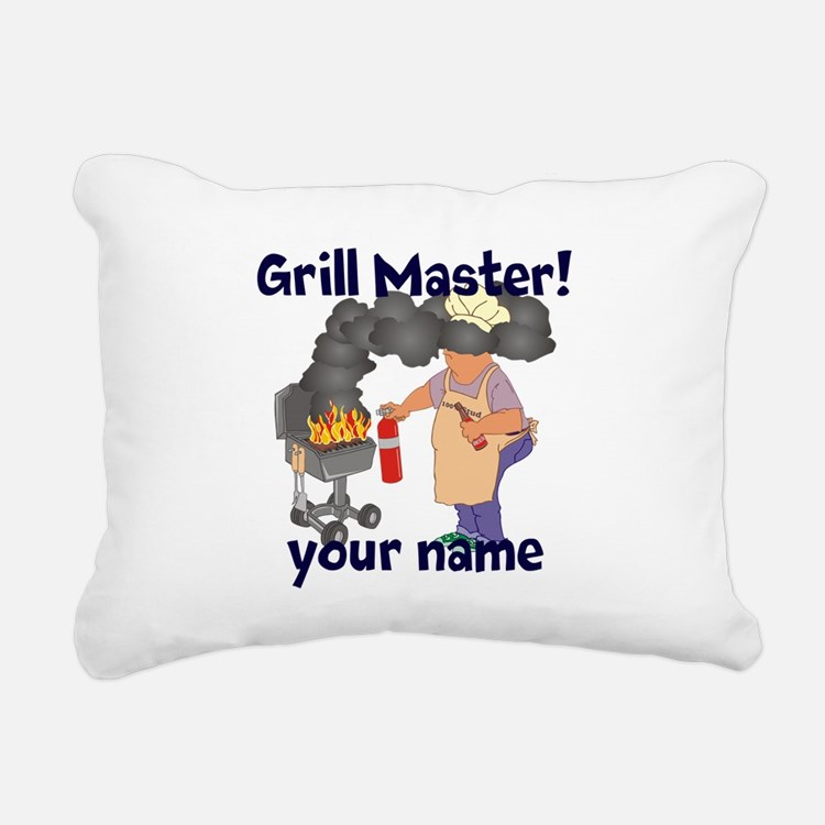 Personalized Grill Master Rectangular Canvas Pillo
