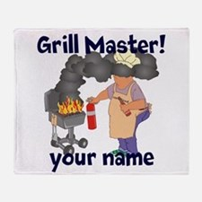 Personalized Grill Master Throw Blanket