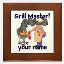 Personalized Grill Master Framed Tile