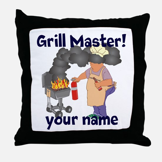 Personalized Grill Master Throw Pillow