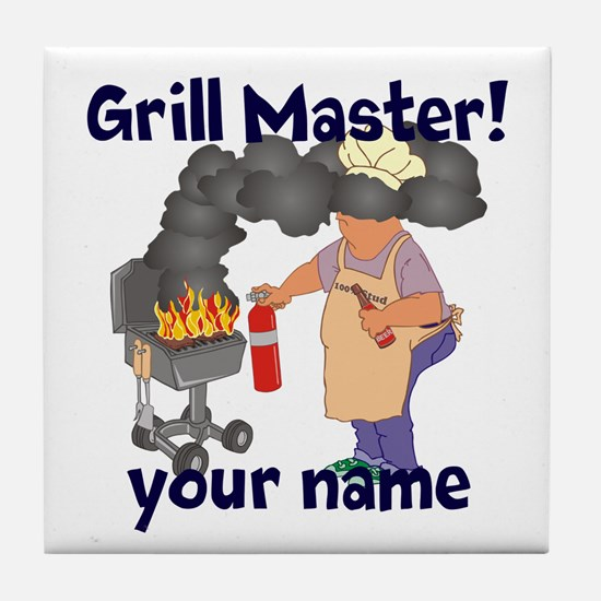 Personalized Grill Master Tile Coaster