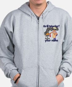 Personalized Grill Master Zip Hoodie