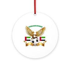 United Arab Emirates Football Design Ornament (Rou