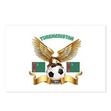 Turkmenistan Football Design Postcards (Package of