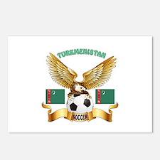 Turkmenistan Football Design Postcards (Package of