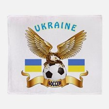 Ukraine Football Design Throw Blanket