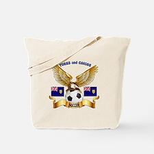 Turks and Caicos Football Design Tote Bag