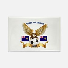Turks and Caicos Football Design Rectangle Magnet