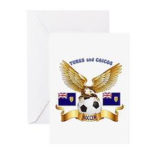 Turks and Caicos Football Design Greeting Cards (P