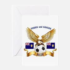 Turks and Caicos Football Design Greeting Card