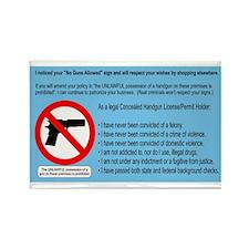 No Guns = No Money Rectangle Magnet (10 pack)