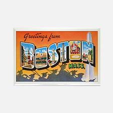 Boston Massachusetts Rectangle Magnet (10 pack)