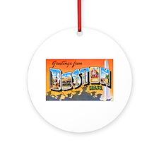 Boston Massachusetts Ornament (Round)