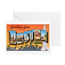 Boston Massachusetts Greeting Cards (Pk of 10)