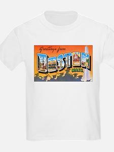 Boston Massachusetts (Front) Kids T-Shirt